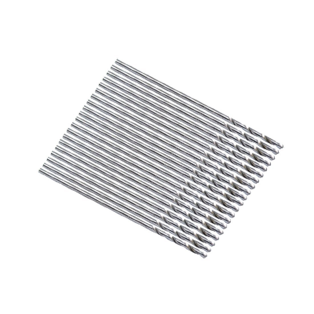 Straight Shank Twisted Drill Bit - SODIAL(R) 20 Pieces Metal Straight Shank 0.8mm Twisted Drill Bit
