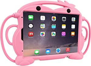 CHIN FAI Kids Case for iPad Pro 11 2020 2nd Generation - Fits iPad Pro 11 2018, Shockproof Silicone Handle Stand Protective Cover with Built-in Apple Pencil Holder for 11-inch iPad 2018 2020 (Pink)