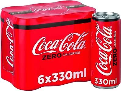 Coca Cola Zero Can, 330 ml (Pack of 6)
