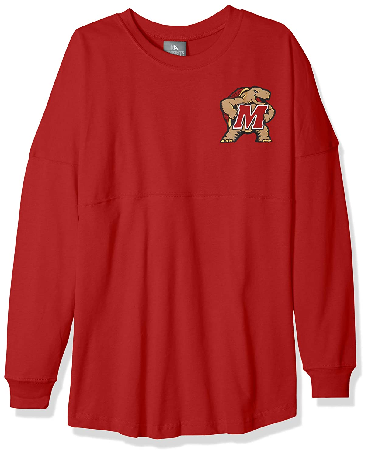 Athletic Red X-Large NCAA Maryland Terrapins Womens NCAA Womens Long Sleeve Mascot Style Teeknights Apparel NCAA Womens Long Sleeve Mascot Style Tee