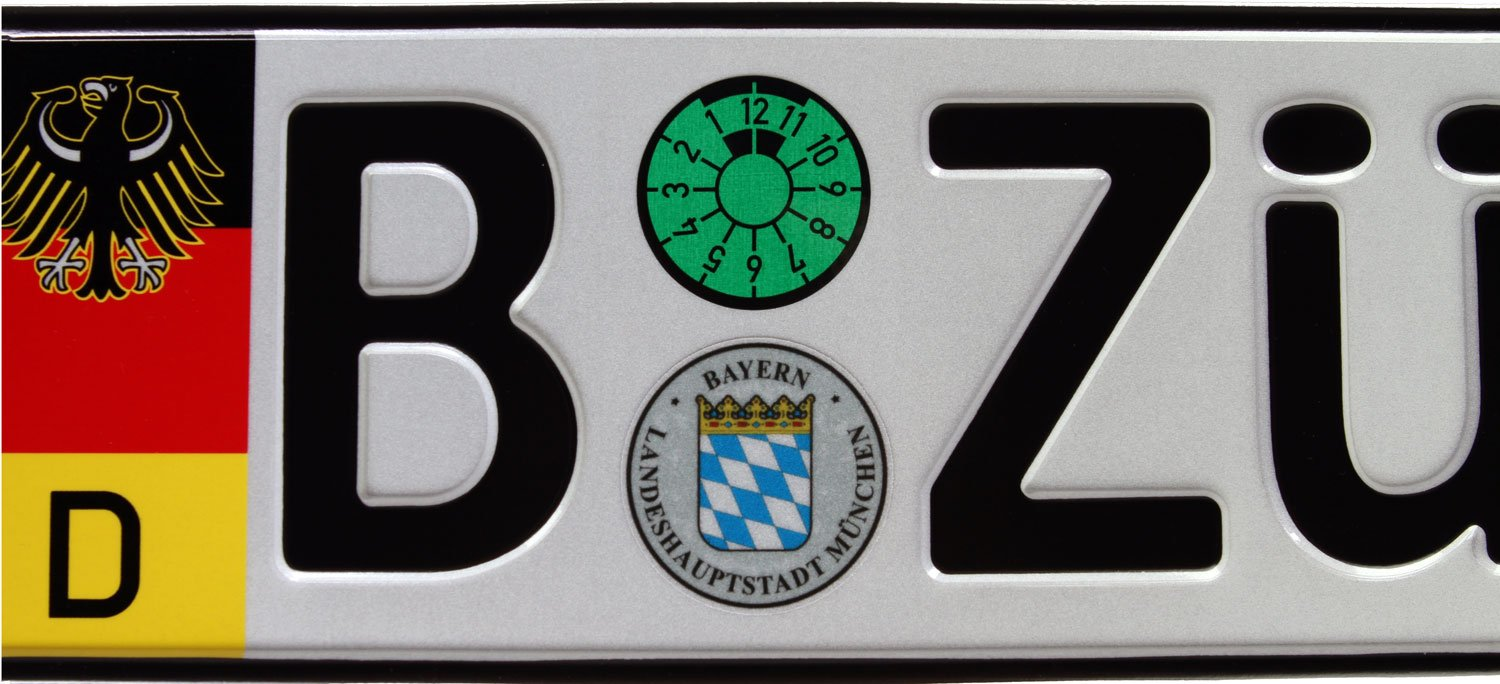 Random Characters German Euro Plate with German Flag /& Coat of Arms