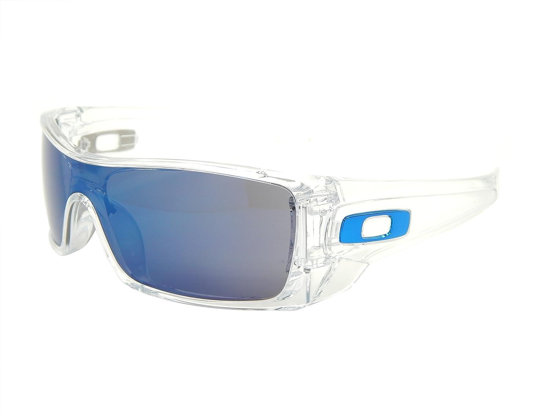 oakley batwolf 9101 07 polished clear ice iridium sunglasses rh amazon ca