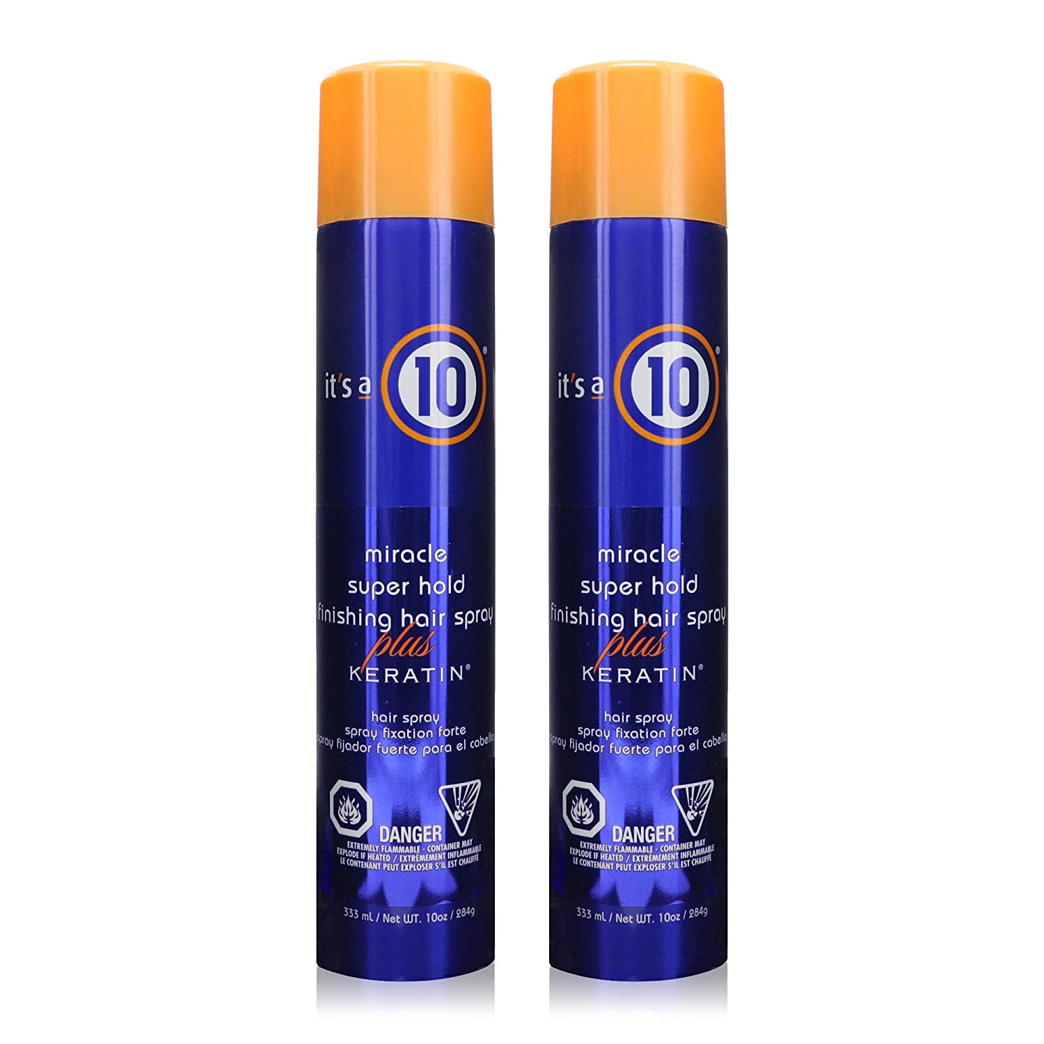 It's a 10 Haircare Miracle Super Hold Finishing Spray Plus Keratin, 10 fl. oz. (Pack of 2)
