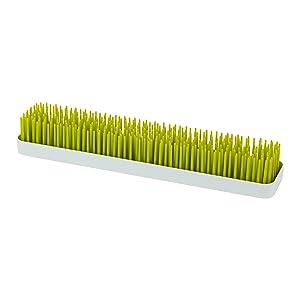Boon Patch - Bandeja de secado para biberones con diseño de césped, forma rectangular, color verde