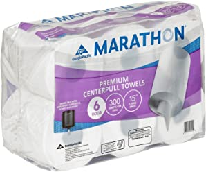 Sams Club Marathon Centerpull Towels, 6 Rolls-300 Sheets per roll, ...