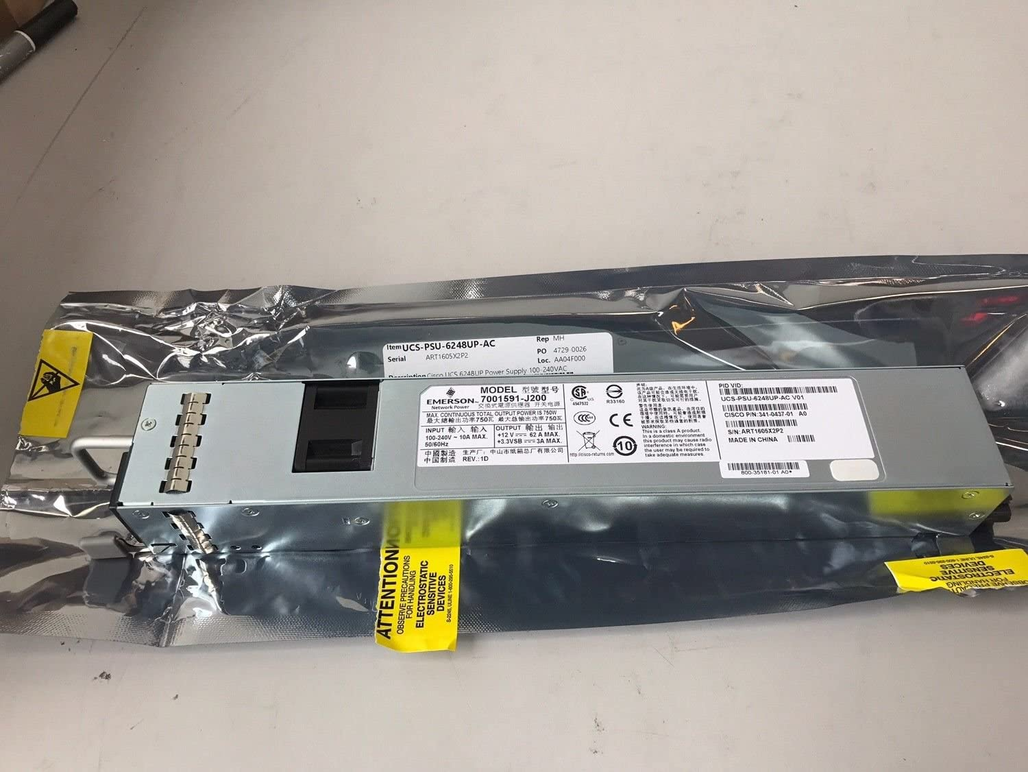 Power Supply 100-240VAC for UCS 6248UP
