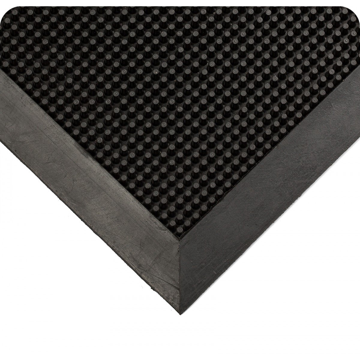 Wearwell Natural Rubber 220 Multi-Guard Heavy Duty Mat, for Outdoor Entrances, 3' Width x 5' Length x 1/2'' Thickness, Black