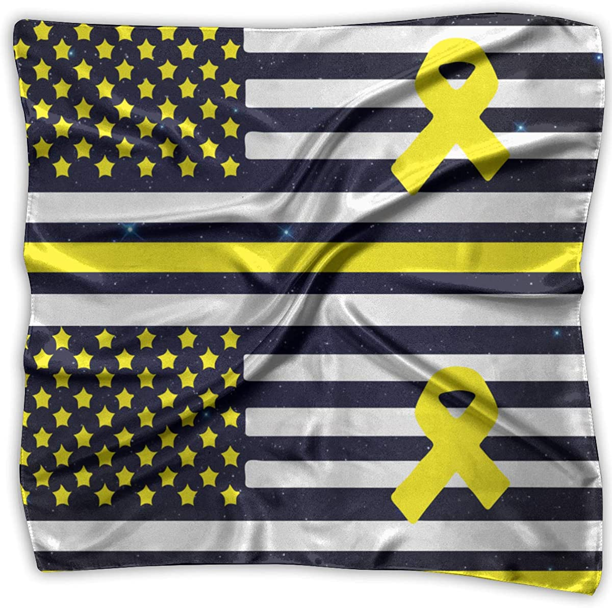 Sarcoma Bone Cancer American Flag Men Women Silky Scarf Handkerchief Bandana Wrap Scarf