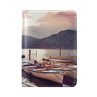 Italy Pier Morning Leather Passport Holder Cover Case Travel One Pocket