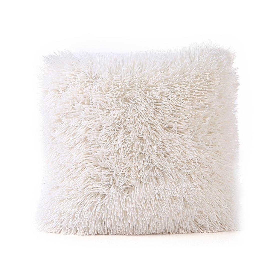 Viahwyt Throw Pillow Case Sofa Plush Waist Seaside Decorative Cuddly Cushion Cover Home Coffee Shop Decor
