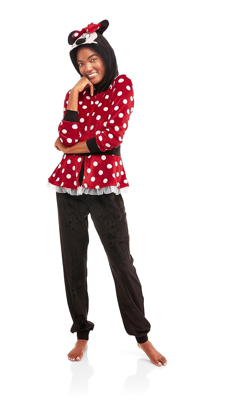 bca6faaebfe Amazon.com: Disney Minnie Mouse Union Suit Onesie Pajama Costume, Extra  Small 0/2: Clothing
