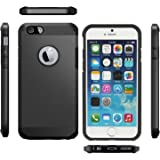 Iphone 5C Case Cover Slim Armor Hybrid [Dual Layer Shockproof] [Black] [Air Cushion Protection] Hard & Rigid Facil&co®