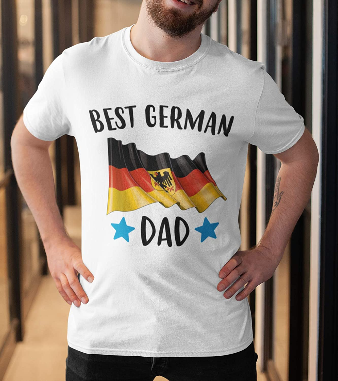 Best German Dad Shirt Fathers Day Germany Flag Pride Daddy Gift Customized Handmade Tshirt Tank Top