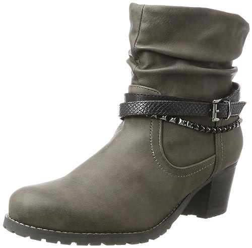 Jane Klain 253 451 - Botas de Vaquero de Piel sintética Mujer, Color Gris, Talla 37 EU: Amazon.es: Zapatos y complementos