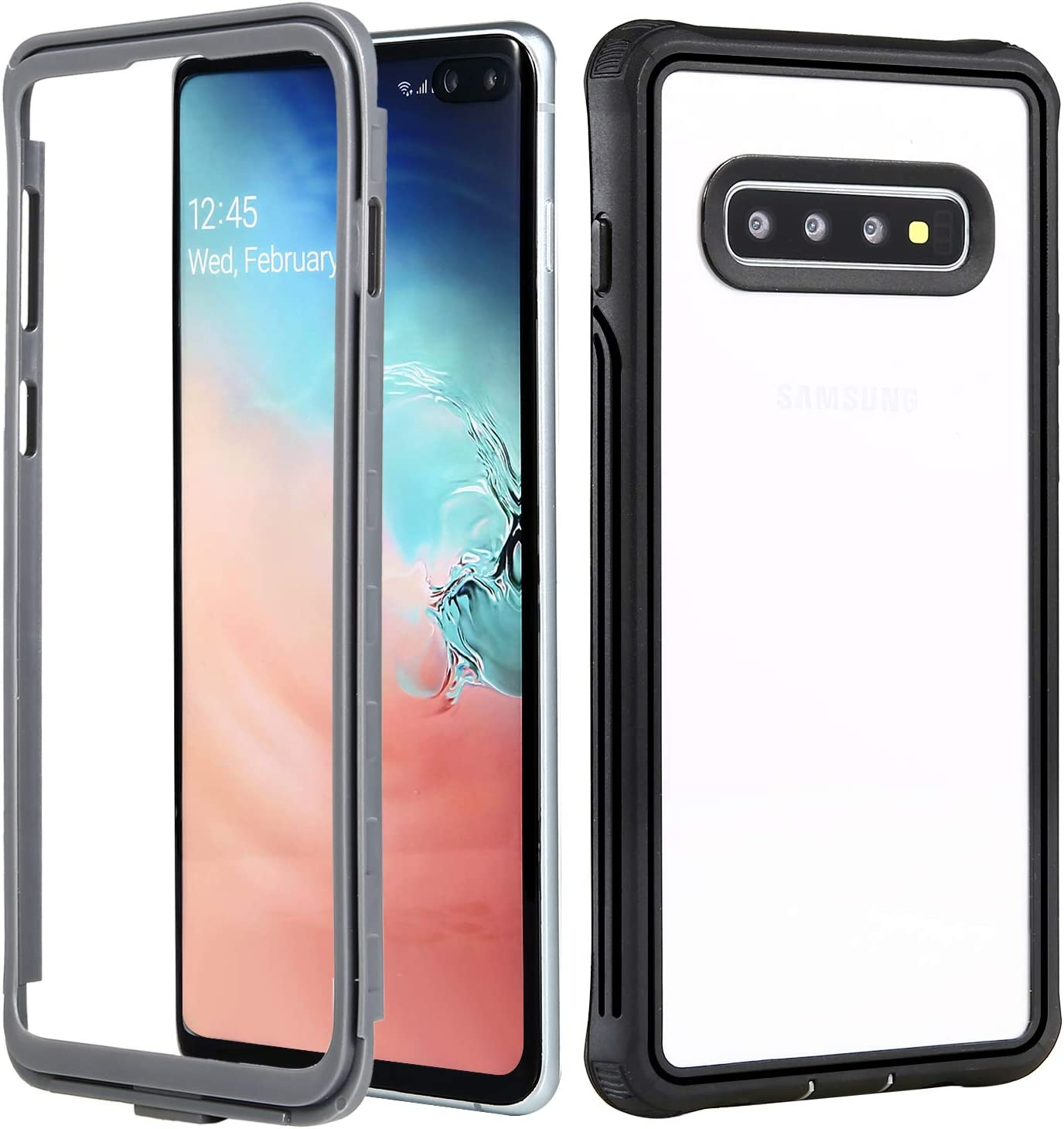 NEXGADGET Galaxy S10 Plus Case, Heavy Duty Protection with Shockproof, Dual-Layer Rugged Bumper Without Built-in Screen Protector Case for S10 Plus(Black)
