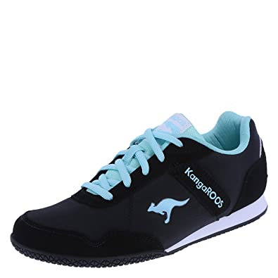 KangaROOS Womens Black Mint Womens Glyde Track Flat 5 Regular