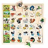 Bino 13728 - Was gehört wohin, kleine Maulwurf, Lernspiel, 36-teilig