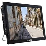 Milanix 14.1' Portable Widescreen LED TV with HDMI, VGA, MMC, FM, USB/SD Card Slot, Built in Digital Tuner, AV Inputs…