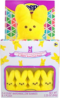 product image for Peeps Yellow Plush Bunny with Peeps Yellow Marshmallow Candy Bunnies Gift Set