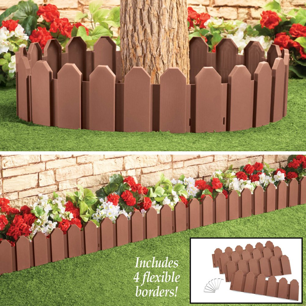 Amazon.com : Flexible Garden Borders - Set Of 4, Brown : Garden ...