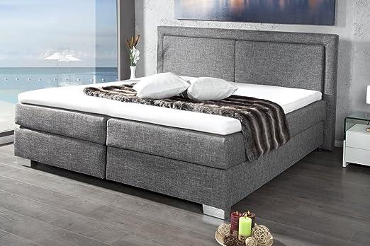 Invicta Interior Queens - Cama con somier (180 x 200 cm, incluye colchón y núcleo de muelles)