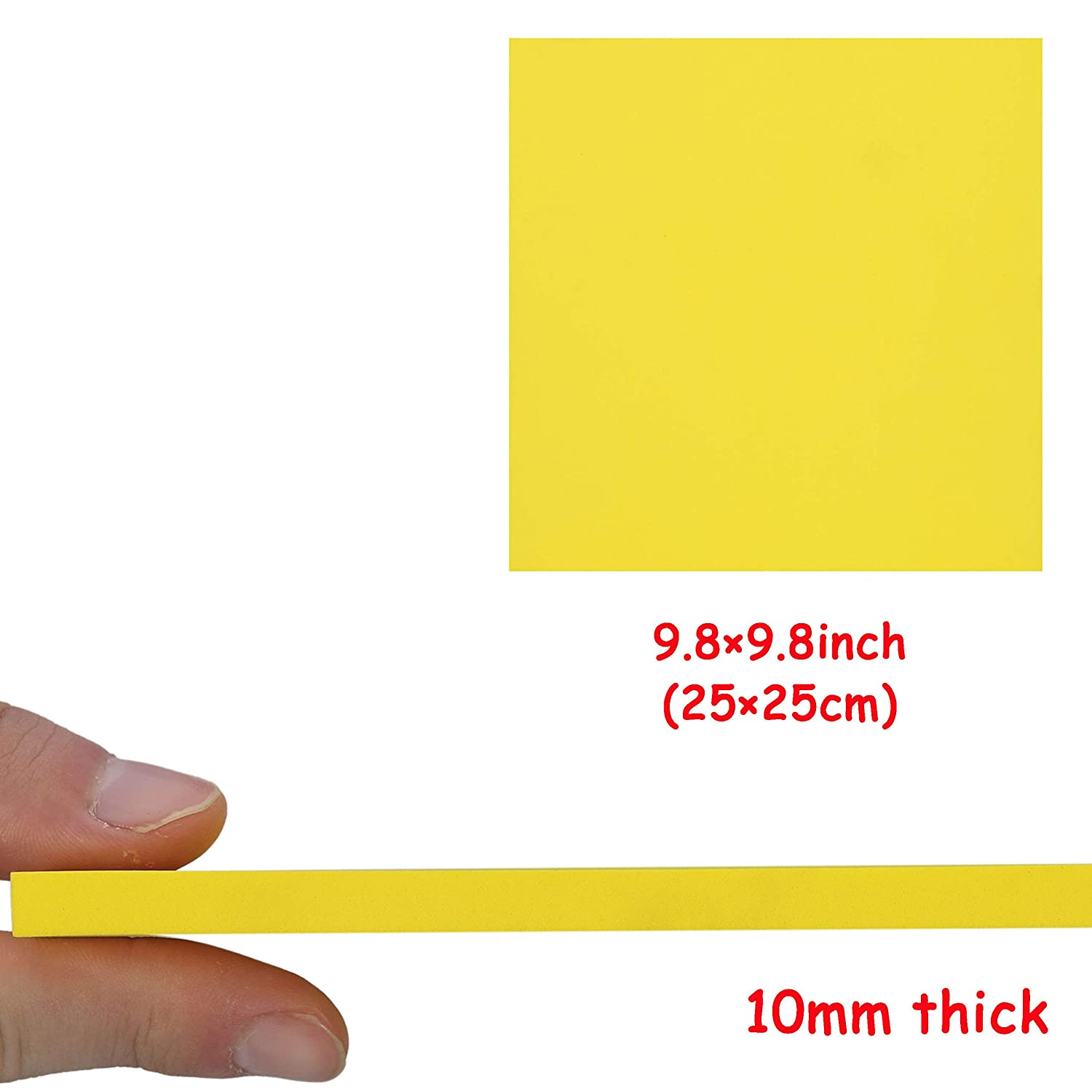 Thickness 3mm//5mm//7mm//10mm for Cosplay Costume Paper Scrapbooking Foamie Crafts Kids Cushion Craft Foam Sheets EVA Foam Sheets 8 Pack 9.6/×9.6 Inches