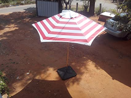 Patio Umbrella (Hex Umbrella - Red & White)
