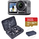 DJI OSMO Action Cam Digital Camera with 2 Displays, 11M Waterproof 4K HDR-Video 12MP, Black | Bundle Kit with Froggi Extreme