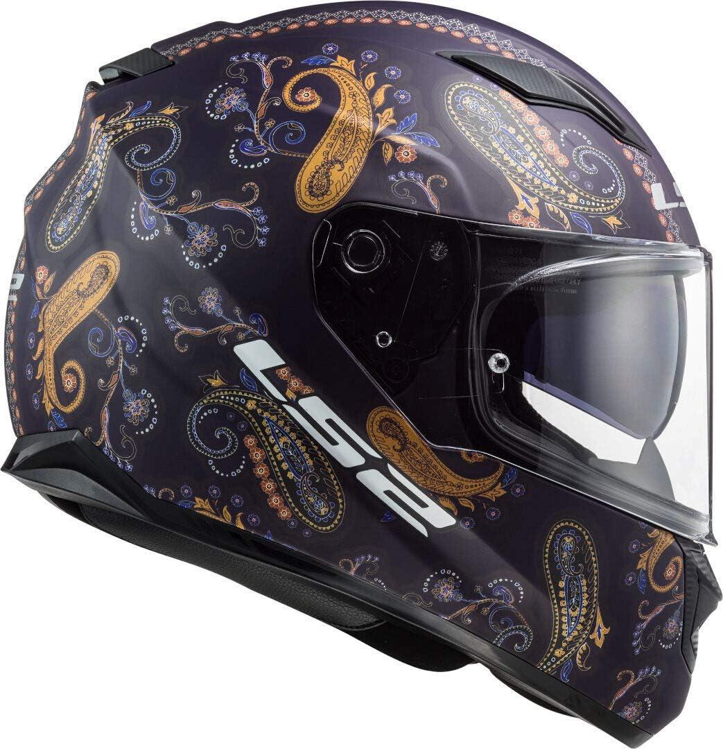 Black//Purple S Motorcycle helmets LS2 FF320 STREAM EVO PASLY MATT Purple