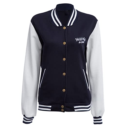Jiushiaini Autumn Winter Women Basic Baseball Jackets Sweatshirt Women Coats Outerwear Jacket Coat Plus Size at Amazon Womens Clothing store: