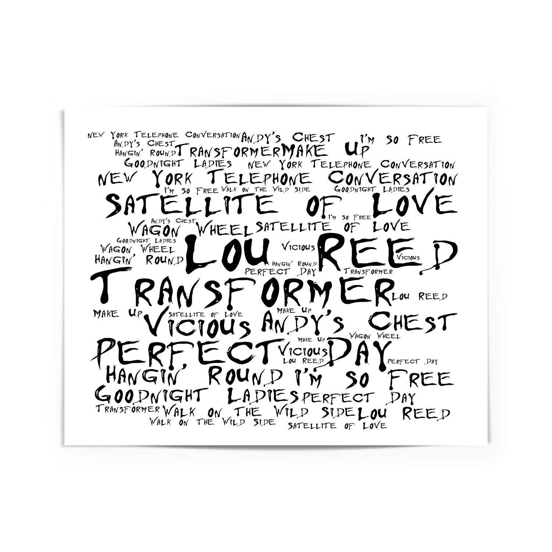 Lou Reed Poster Print Transformer Lyrics Gift Signed Art