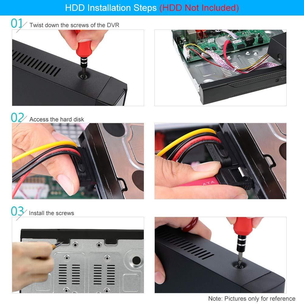 16-CH Seculink 16-canales 4MP//5MP 5-en-1 AHD Grabador de video digital 1920P H.265 DVR ONVIF compatible Cloud P2P Control remoto CCTV en tiempo real