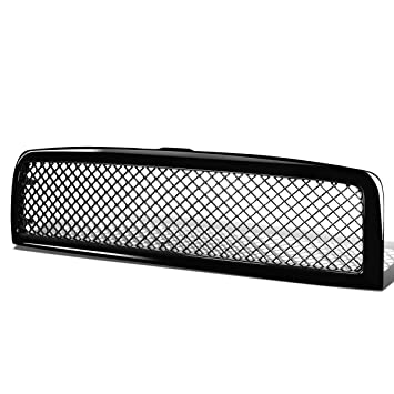 For Dodge Ram Diamond Mesh Front Upper Bumper Grille Guard (Glossy Black) -  BR BE 2nd gen