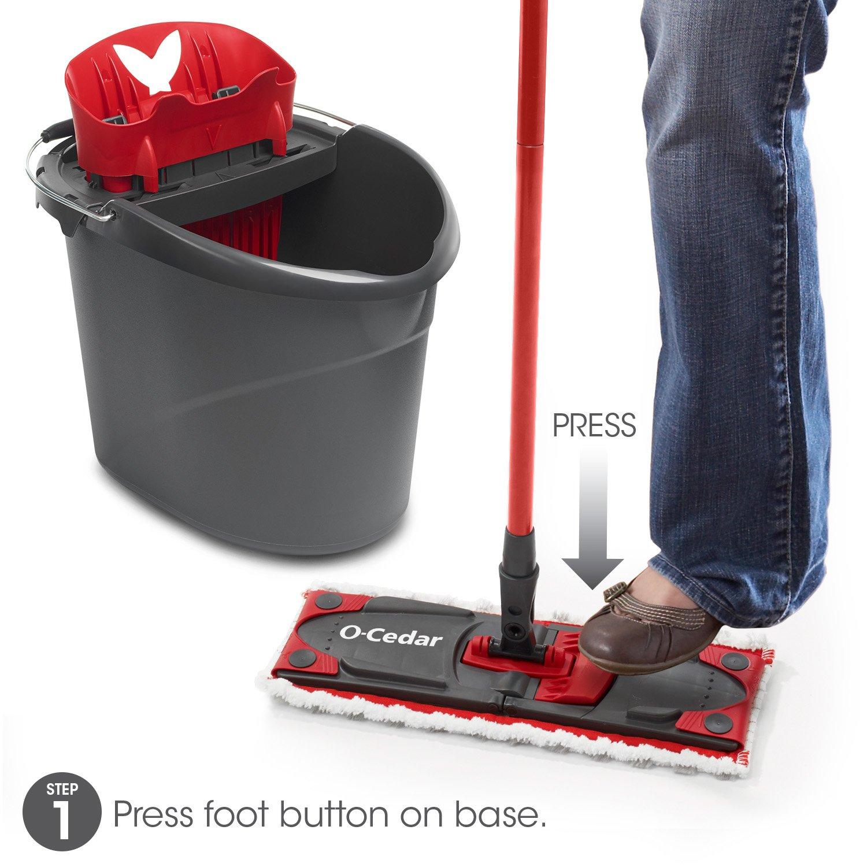 O-Cedar UltraMAX Microfiber Flat Mop /& Bucket Kit