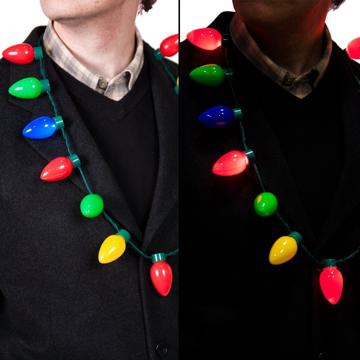 Amazon.com: Gloworks Flashing Christmas Bulb Necklace: Toys & Games