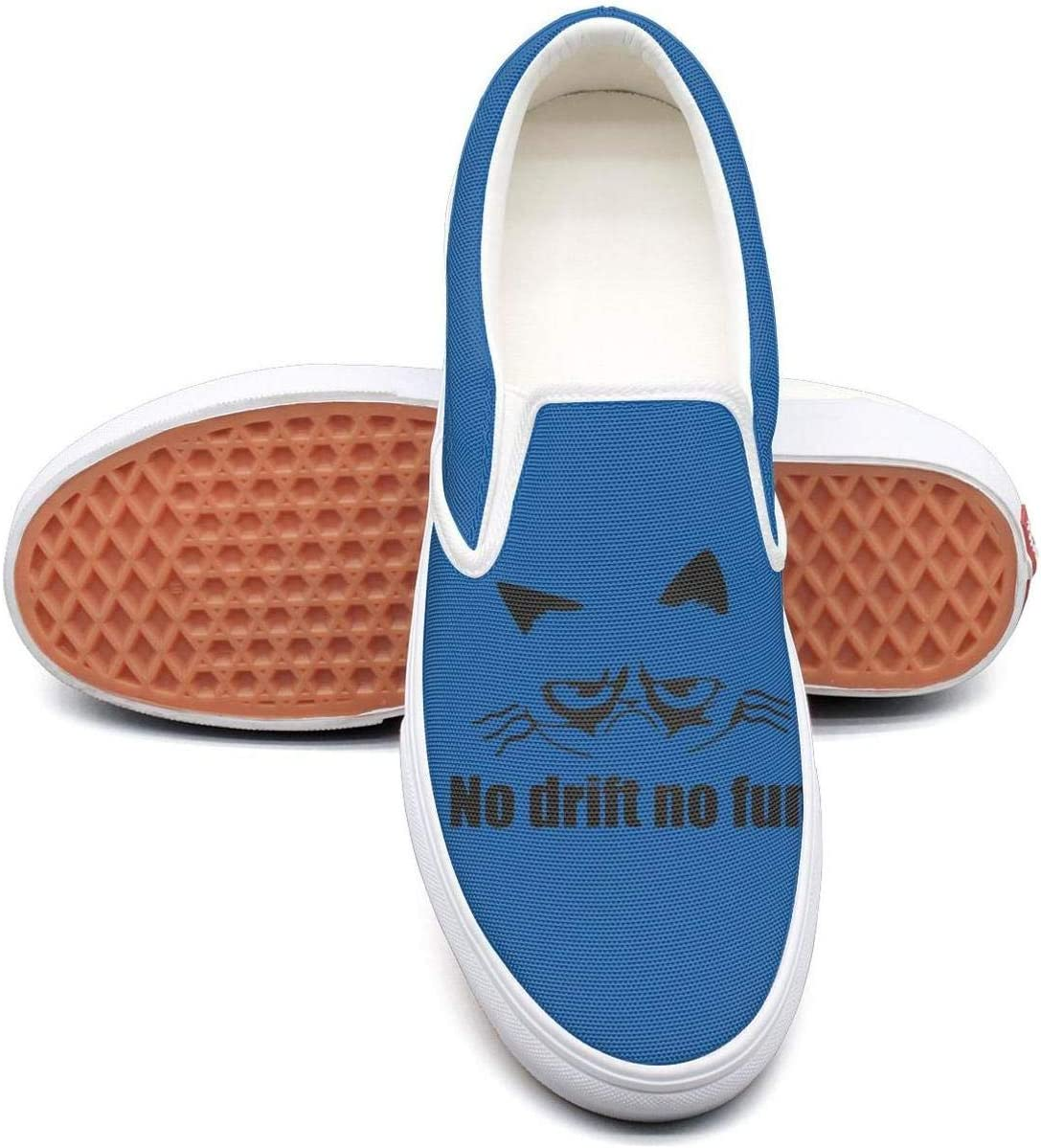 KJGDFS Grumpy Cat No Drift No Fun Flat Shoes Soft Super Daily for Men