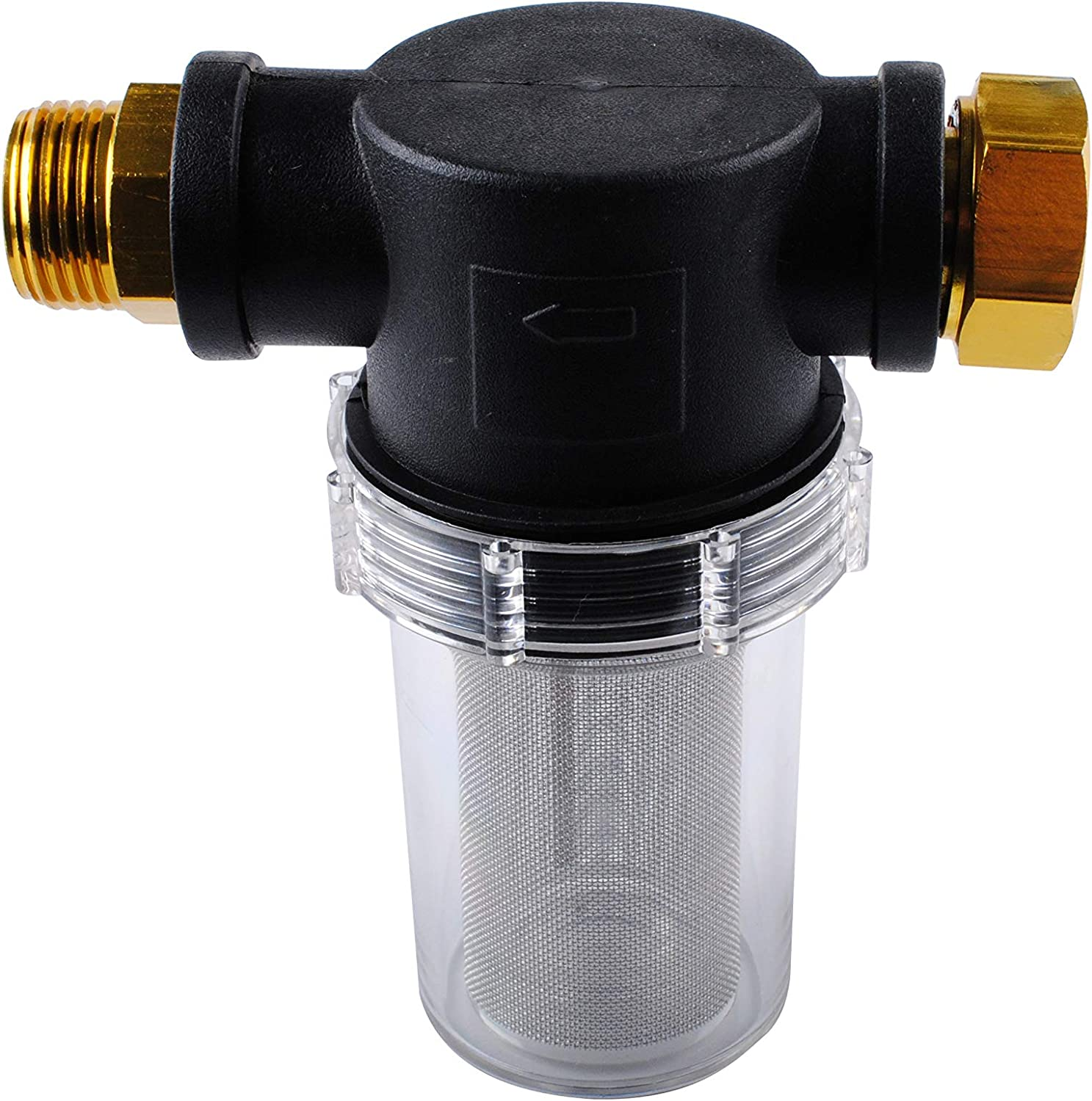 Ketofa Sediment Filter Attachment Garden Hose for Outdoor Gardening Inlet Water and Pressure Washers (40 Mesh)