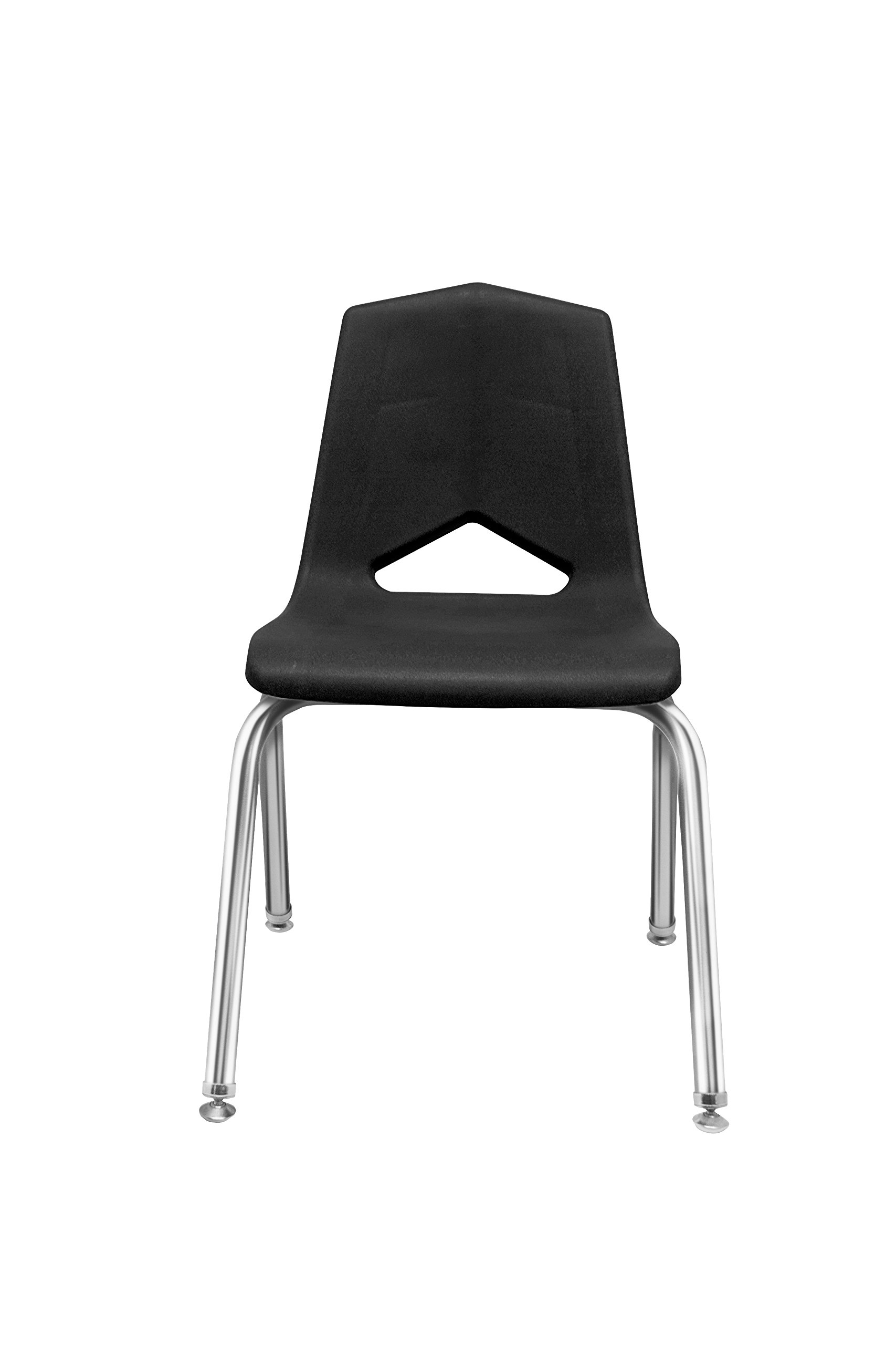 Marco Group MG1101 Series V-Back Chair, 14-Inch Seat Height, Black/Chrome, 6 Per Carton