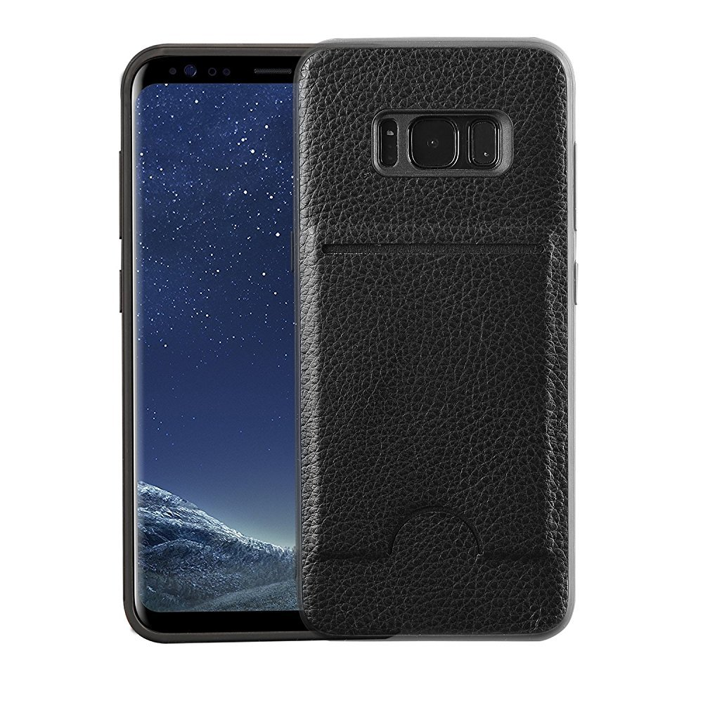 Galaxy S8 Plus Wallet Case, S8 Plus Card Case, MagicSky Ultra Slim Premium PU Leather Wallet Case Shock-Absorbing Protective Bumper Cover With Card Holder for Samsung Galaxy S8 Plus/S8+ (Black)