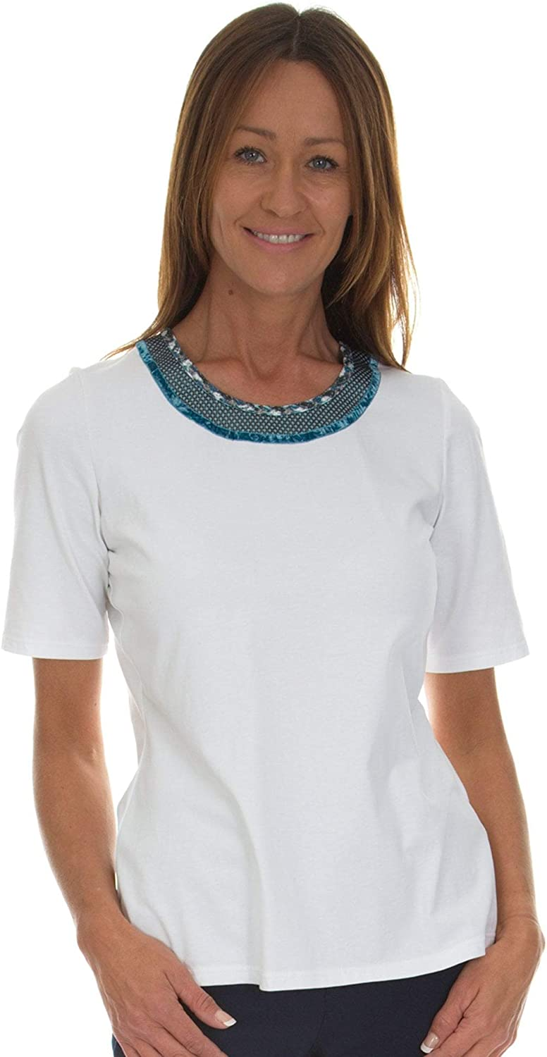 Just White Teal Twin Set 41754 41800