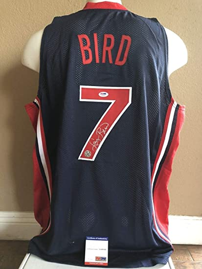 new york e31f4 a7bab Larry Bird Hand Autographed Signed Usa Olympic Jersey Boston ...