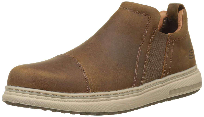 Skechers Folten-Orego, Zapatillas para Hombre 45.5 EU|Marrón (Dark Brown Cdb)