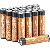 AmazonBasics 20 Pack AAA High-Performance Alkaline Batteries, 10-Year Shelf Life, Easy to Open Value Pack