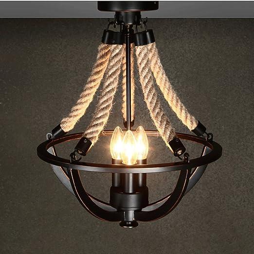 American Vintage Eisen Deckenlampe Klassische Twine Wohnzimmer