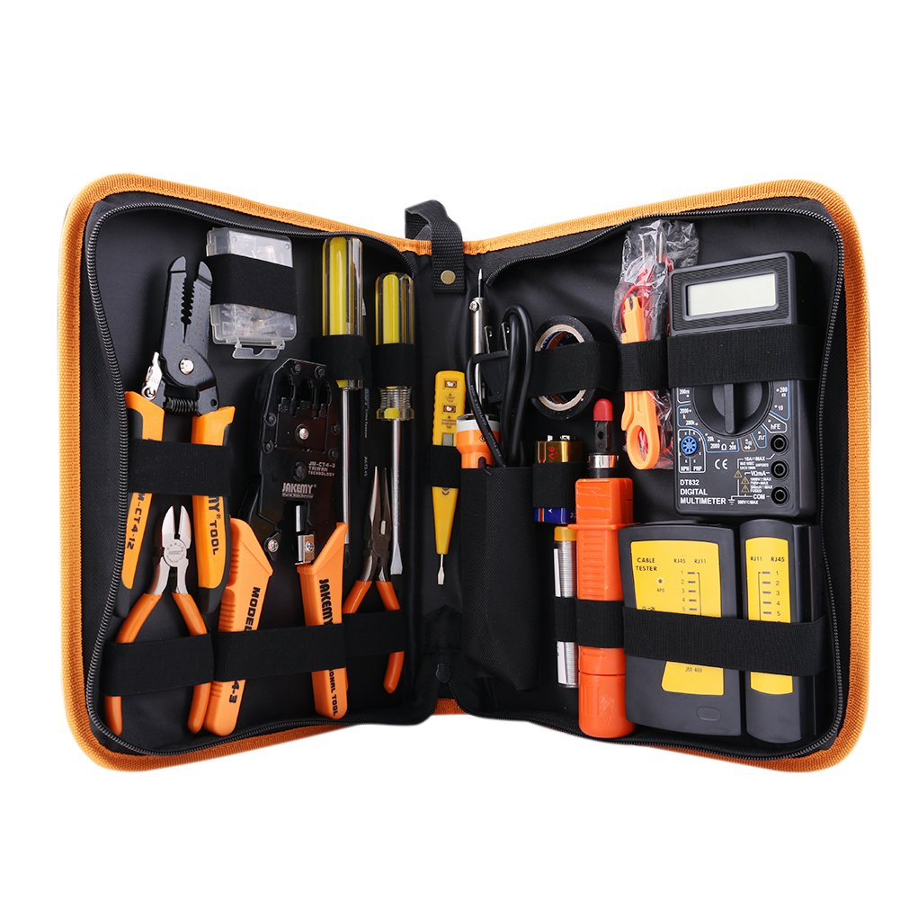 Professional Network Computer Maintenance Repair Tool Kit Toolbox Wire  Punch Down Impact Tool Stripper Cutter Set - - Amazon.com
