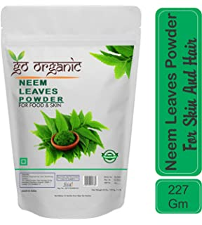 Buy HillDews Neem Leaf Powder 200 g With Spoon For Skin and