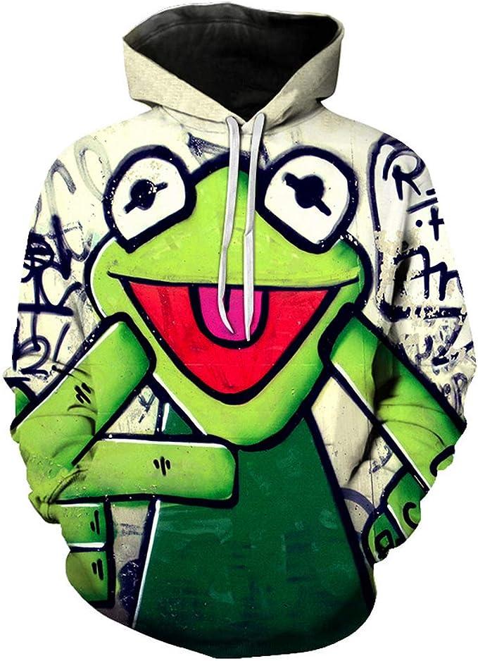 edword/_yimsun 3D Print Sweatshirt Mens Funny Hoodies Man Hiphop Long Sleeve Pullover