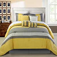 Diamante amarillo 8 piezas Juego de cama de edredón
