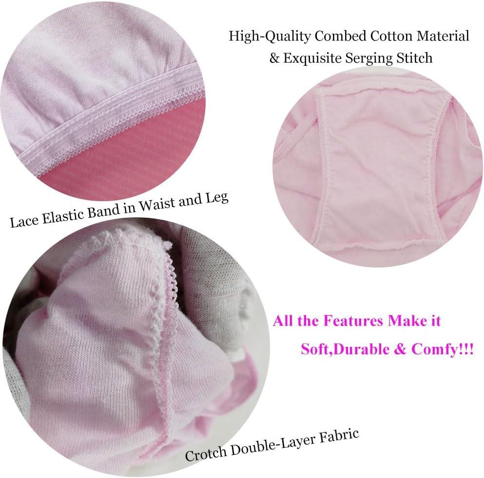 10Pk X-Small: Taille 57-70cm, Hanches 70-82.5cm STARLY Femmes jetables 100/% Coton Voyage sous-v/êtements Low Rise Slip pour Adolescent Rose