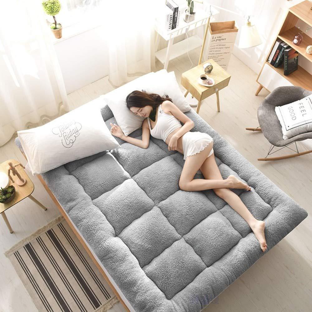 A 100x200cm(39x79inch) Thickening Flannel Mattress,Comfort Soft Sponge pad,Hotel Dormitory Mattress,Hypoallergenic Mattress-C 180x200cm(71x79inch)